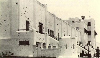 The Moncada Barracks shortly after the July 26, 1953 attack. The barracks have been converted into a school.