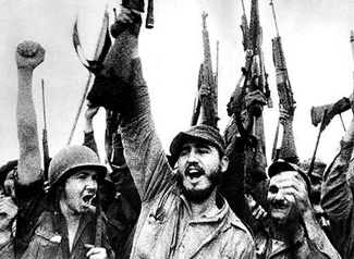 Raúl, Fidel and the Cuban Army celebrate their victory over U.S.-backed reactionaries at Playa Giron in April 1961.