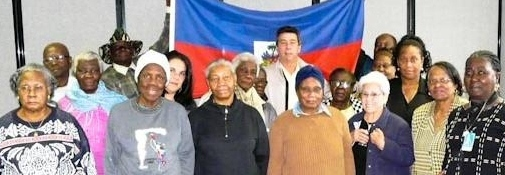 With members of the Haitian community in Montreal, October 16, 2011.