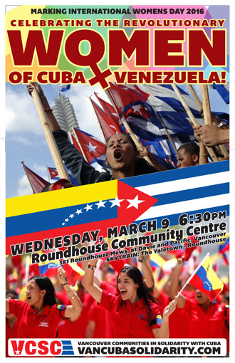 Celebrating the Revolutionary Women of Cuba & Venezuela!